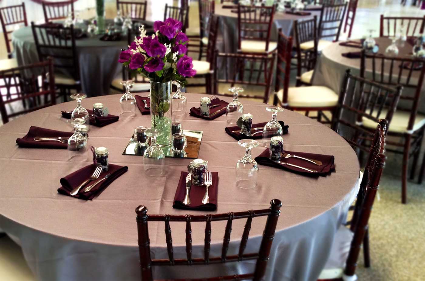 Maggies Café Catering Weddings - Catering table setting